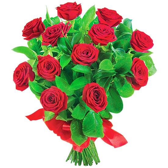 12 róż na Walentynki