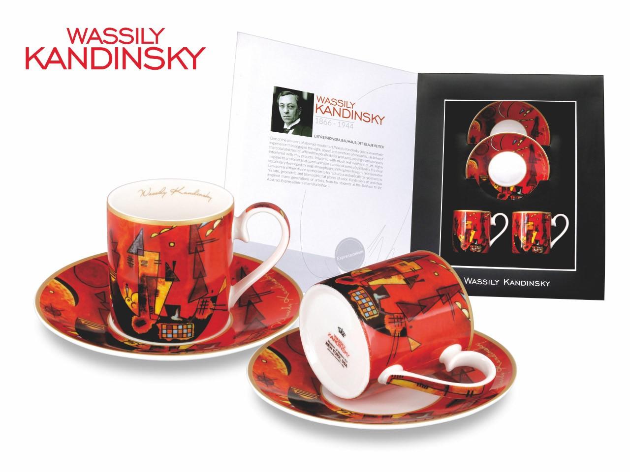 """""""Za i przeciw"""" Wassily Kandinsky, zestaw dwóch filiżanek do kawy"""