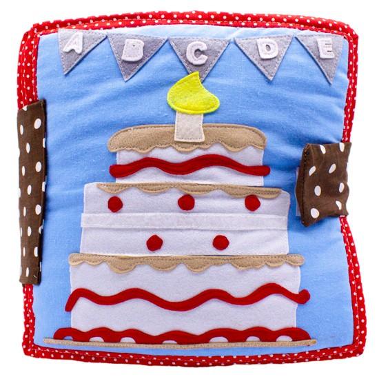 Urodzinowa książeczka sensoryczna, książeczka sensoryczna ręcznie robiona