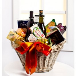 Mały Luxurious Gourmet Gift Basket (no alcohol)