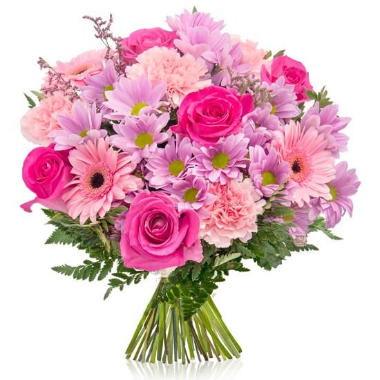 Bukiet Mamy, bukiet z różowymi kwiatami