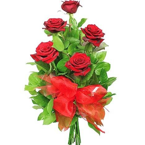 Czerwone róże ze wstążką z dostawą, kwiaty dla ukochanej, Kwiaty dla Zakochanych