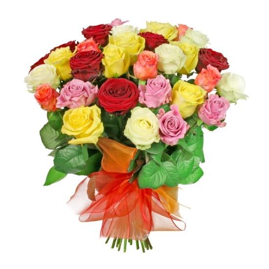 Bukiet kolorowych róż