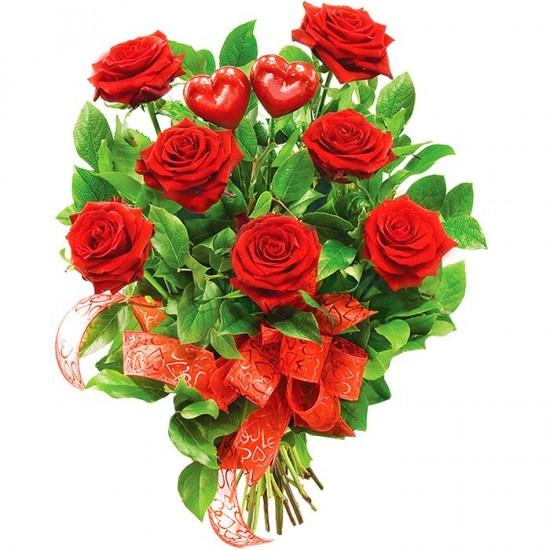 Kwiaty dwa serca