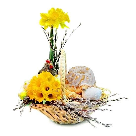 Kompozycja z Babką Wielkanocną
