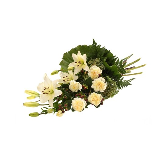 Wiązanka pogrzebowa z białych kwiatów