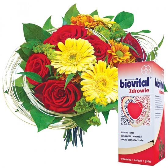 Kwiaty Kocham Cię Babciu