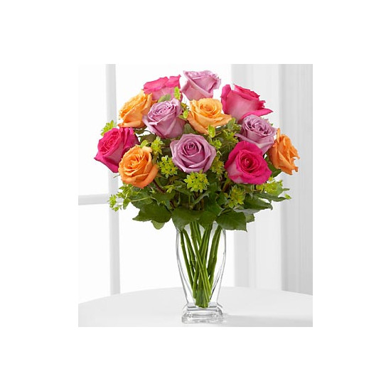 E6-4821 The Pure Enchantment™ Rose Bouquet - VASE INCLUDED