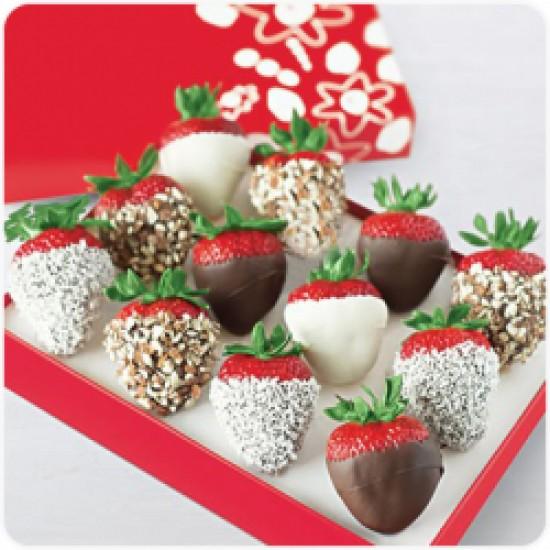 Truskawki w czekoladzie Aero