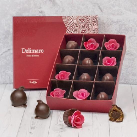 Figi w czekoladzie z różyczkami