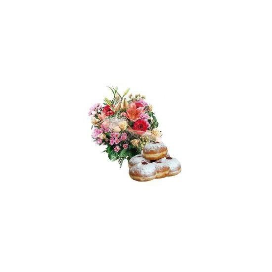Kwiaty Miłego dnia z pączkami:)