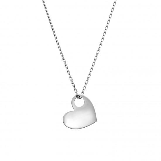 Naszyjnik z sercem A. Kruk srebrny