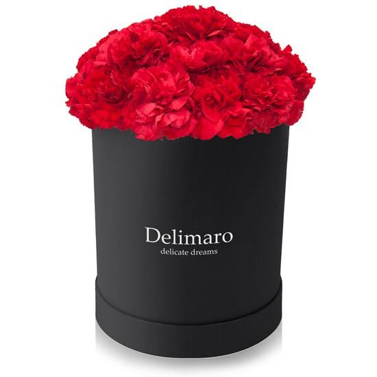 goździki w pudełku flower box,pubełko prezentowe