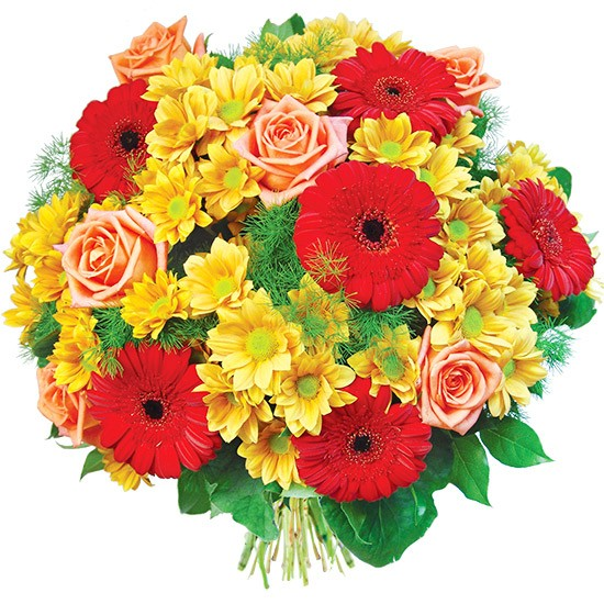 Flowers Remember you, flower bouquet mixed with delivery, gerberry and margaret bouquet with greenery