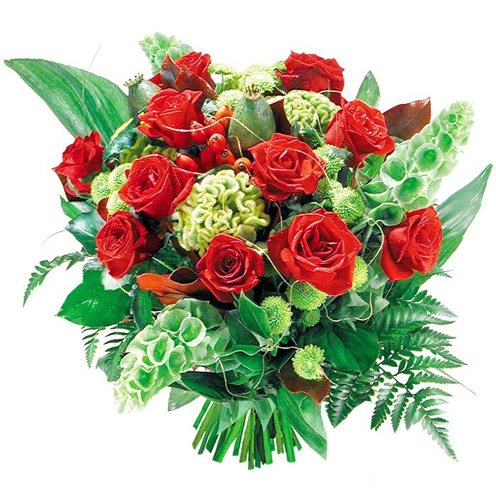 Kwiaty - czerwone róże w bukiecie, romantyczny bukiet, kwiaty zakochanych, Kwiaty Miłosne