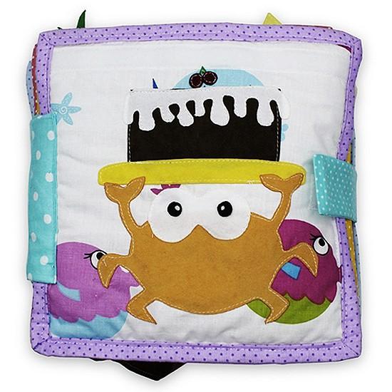 Książeczka sensoryczna - Urodzinowy Krab