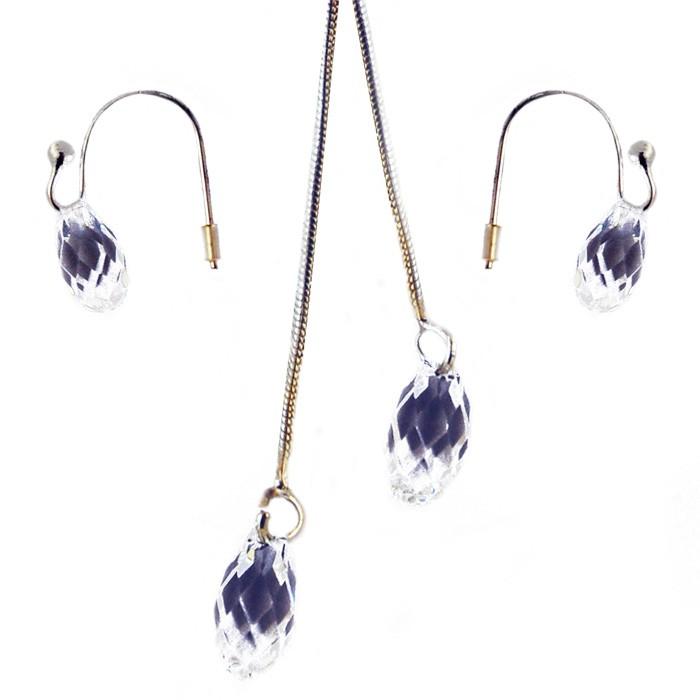 Naszyjnik z kolczykami Swarovski, biżuteria z elementami Swarovski