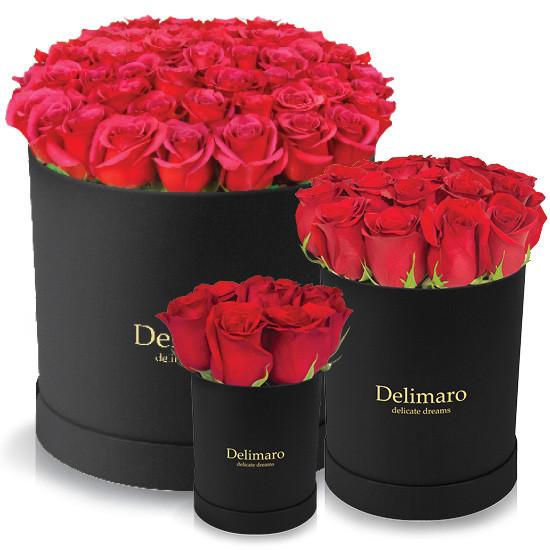 Kwiaty W Pudelku Delimaro Roze W Pudelku Flowerbox Od Poczty Kwiatowej