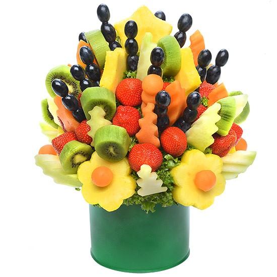 Bukiet owocowy Radość, bukiet z truskawek, melona i kiwi