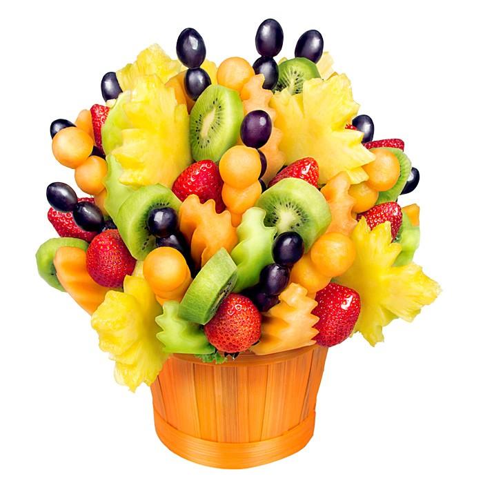 Bukiet owocowy Lipton, ananas, truskawki i melon w bukiecie