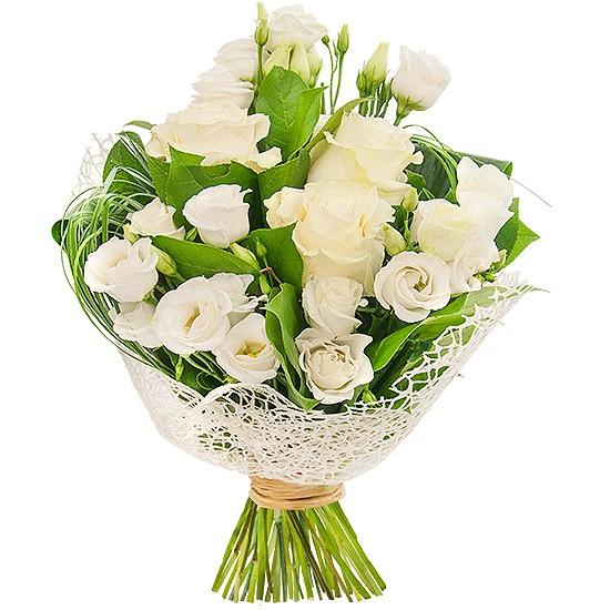 Bukiet Subtelna Elegancja, bukiet białych róż, kwiaty o białej kolorystyce