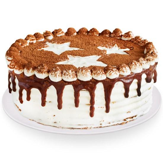 Tort kawowy z dostawą, tort z dekoracją o smaku kawowym