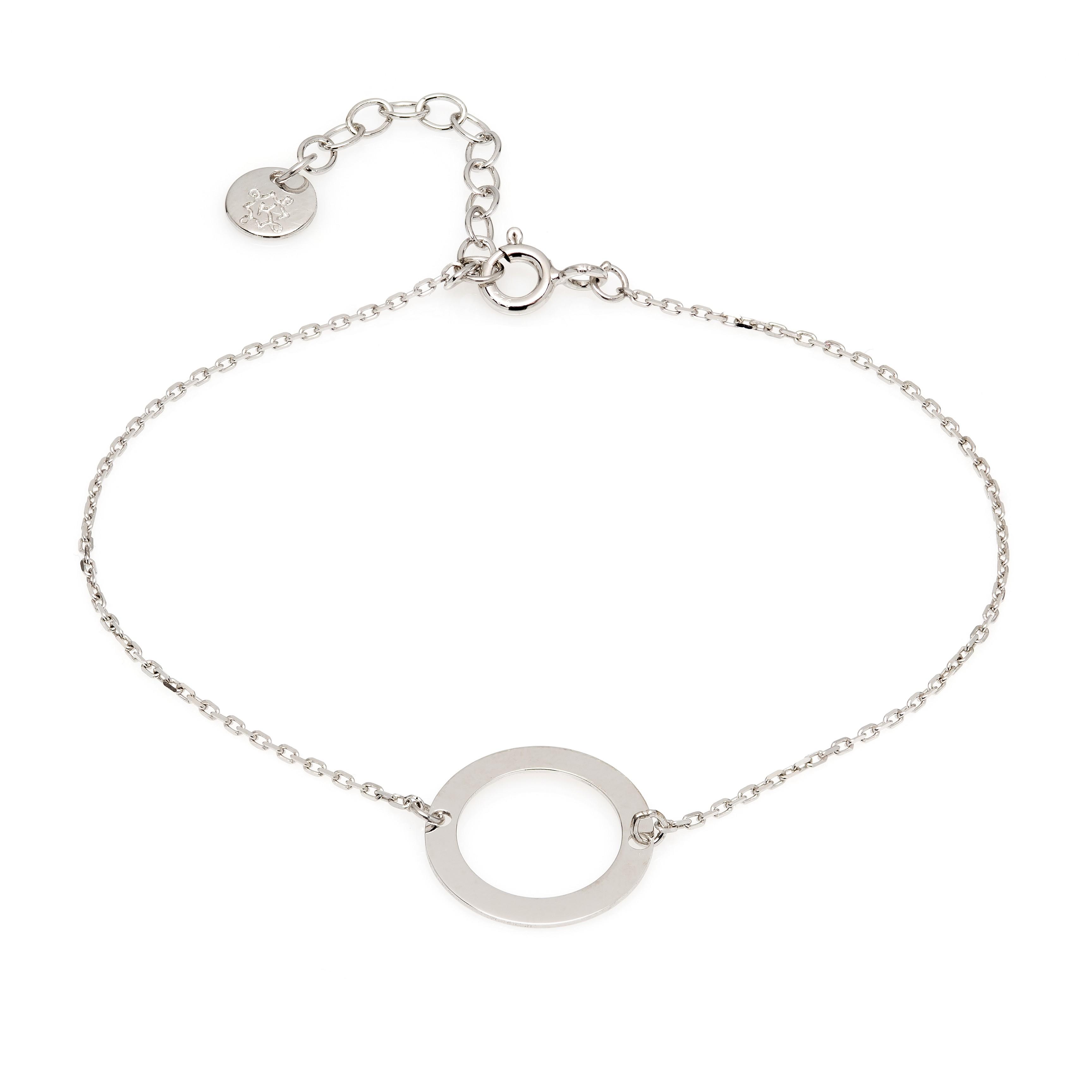 Bransoletka z okręgiem srebrna ANIA KRUK, srebrna bransoletka z kółkiem