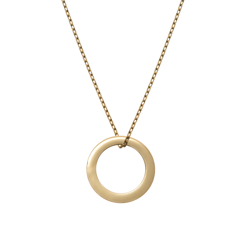 Naszyjnik z okręgiem pozłacany ANIA KRUK, pozłacany łańcuszek z zawieszką w kształcie koła