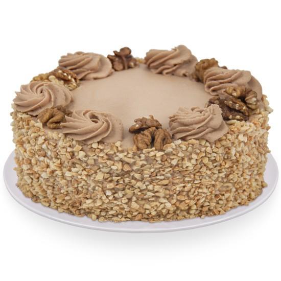 Tort orzechowy, orzechowy tort z dostawą, ciasto z dekoracją