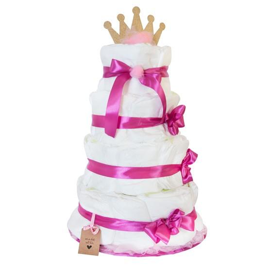 Tort z pieluszek dla dziewczynki