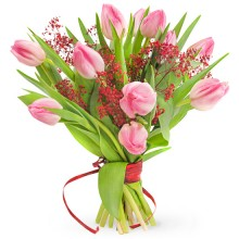 Bouquet of 11 tulips for Women's Day