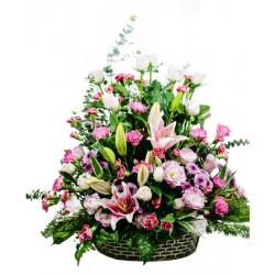 Aranżacja świeżych kwiatów