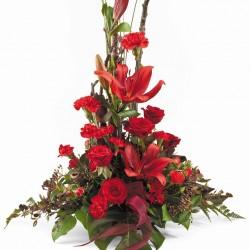 Tradycyjne kwiaty czerwone