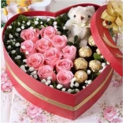 Różowe różane serce
