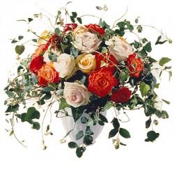 Romantyczny bukiet róż