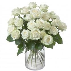 24 białe róże