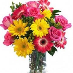 Aranżacja ciętych kwiatów (bez/z wazonem)