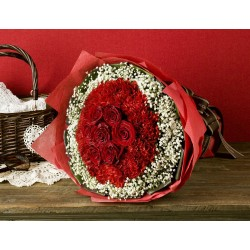Bukiet mieszany - róże