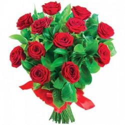 Bukiet 12 czerwonych róż