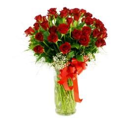 50 czerwonych róż