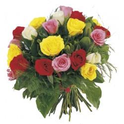 Kwiaty - kolorowe róże