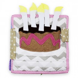 Sensory book - Birthday cake