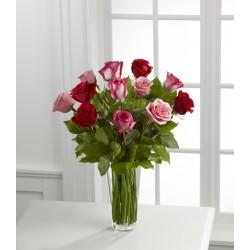 The True Romance™ bukiet róż z wazonem