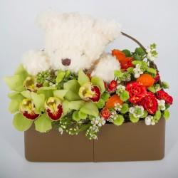 Kompozycja w koszyku Baby Flower