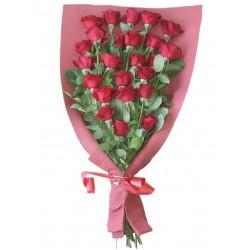 Bukiet 24 czerwonych róż