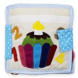 Książeczka sensoryczna - Urodzinowa babeczka