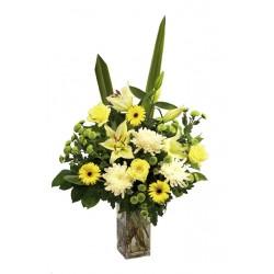 Kwiaty w kolorach vanillii i mięty