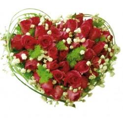 Aranżacja czerwonych róż