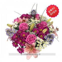 Bukiet kwiatów ciętych