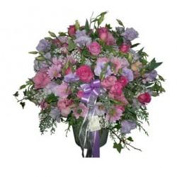 Aranżacja różowo fioletowa